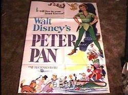Peter Pan Movie Poster R69 Disney Great