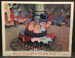 Peter Pan Original 1953 Movie Lobby Cards Disney Captain Hook and Wendy