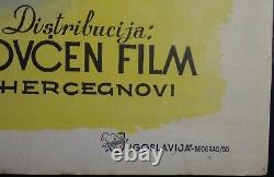 Peter Pan Walt Disney 1955 Mega Rare Original Vintage Exyu Movie Poster