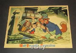 Pinocchio / 1940 Walt Disney / Original Color Mini Lobby Card (8x10) C