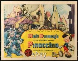 Pinocchio 1940 original half-sheet Disney