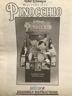 Pinocchio New Original Video Store Standee Display Walt Disney