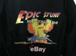 RARE Disney MGM Studio Epic Stunt Spectacular Crew Jacket Pin Indiana Jones Sz L