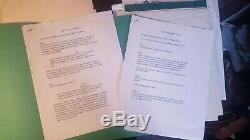 RARE Huge Lot Disney LION KING II Hand Written Production Notes Scripts and More