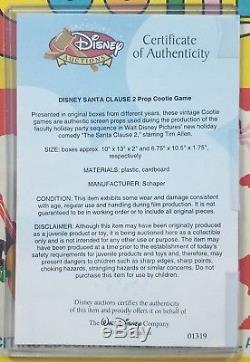 RARE! Santa Clause 2 Movie Prop Cootie Board Game Disney Auctions COA