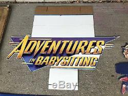 RARE Vintage Adventures in Babysitting Cardboard Movie Standee Display Disney