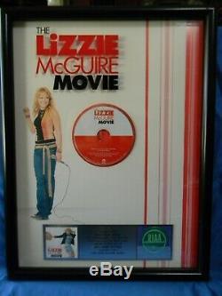 RIAA Certified Platinum SALES Award Walt Disney Records The LIZZIE McGuire Movie