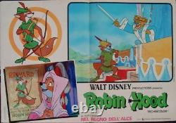 ROBIN HOOD Italian fotobusta photobusta movie posters set x10 WALT DISNEY 1973