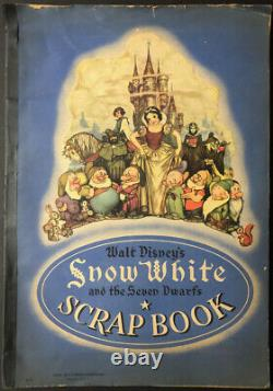 Rare 1930s Snow White & the Seven Dwarfs Walt Disney Scrapbook Movie Memorabilia