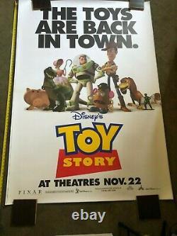Rare DISNEY PIXAR TOY STORY HUGE Bus Shelter Movie Poster 4X6 Tom Hanks Allen