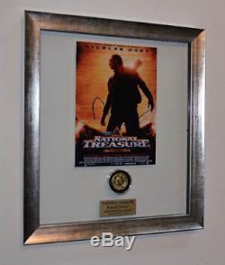 Rare NIC CAGE Signed NATIONAL TREASURE Prop, Disney, Frame Blu Ray DVD COA UACC