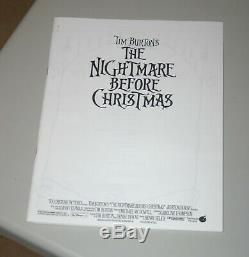 Rare! Original Tim Burton The Nightmare Before Christmas Press Kit