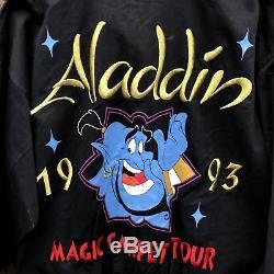 Rare Vintage Disney Aladdin Magical Carpet Tour 1993 Jacket M New Robin Williams