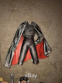 Rare Zorro 1956-59 Plastic Cutout Paper Doll Walt Disney Studios Guy Williams