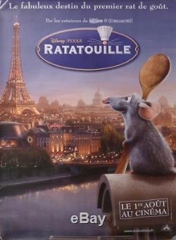 Ratatouille / Disney Eiffel Tower Paris Chef Original French Movie Poster