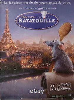 Ratatouille / Disney Eiffel Tower Paris Cook Original French Movie Poster