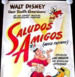 Reduced 100 More! Saludos Amigos 42 Lb 3 Sh Disney Wwii Donald Joe Carioca