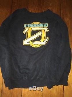 Return to Oz cast & crew sweatshirt 1985 Walt Disney wizard of Oz Walt Disney 85