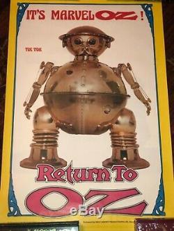 Return to oz U. K. Promo posters set of 4 Tik-Tok Billina Jack & Scarecrow