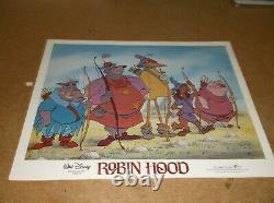 Robin Hood(1973)disney Animated Film Original Set Of 8 Diff 11by14 Lobby Cards