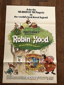 Robin Hood Original 1 sheet Movie Poster Bedford Harris Walt Disney