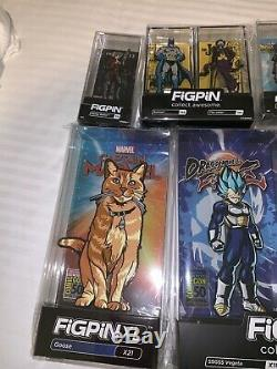 SDCC 2019 EXCLUSIVE FigPin Lot Of 8 + Extra Pin DBZ, DC, Marvel, Disney COMPLETE
