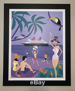 SHAG Josh Agle Disney Cruise Line Island Intermission Framed Giclee on Canvas