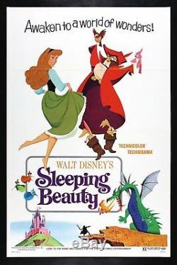 SLEEPING BEAUTY CineMasterpieces 1970 ORIGINAL MOVIE POSTER DISNEY PRINCESS