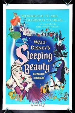 SLEEPING BEAUTY CineMasterpieces DISNEY PRINCESS ORIGINAL MOVIE POSTER 1959
