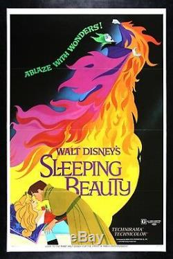 SLEEPING BEAUTY CineMasterpieces VINTAGE ORIGINAL MOVIE POSTER DISNEY PRINCESS