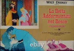 SLEEPING BEAUTY Italian fotobusta movie posters x8 WALT DISNEY R1970