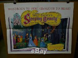 SLEEPING BEAUTY, orig folded 22x28 / movie Disney poster 1959 animation