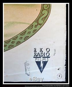 SNOW WHITE Disney RKO 24 x 32 Fold French Moyenne Movie Poster Original 1937