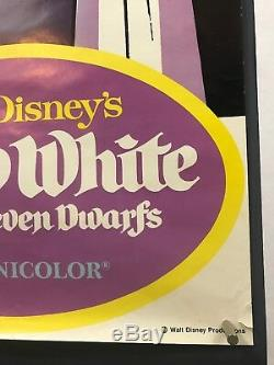 SNOW WHITE SEVEN DWARFS Movie Poster (Fine+) Door Panel 75 59x19.5 Disney 6231