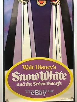 SNOW WHITE SEVEN DWARFS Movie Poster (VF-) Door Panel'75 59x19.5 Disney 6233