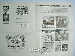 SONG OF THE SOUTH 1946 ORIGINAL Exhibitor's Campaign Book Walt Disney