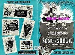 SONG OF THE SOUTH pressbook, WALT DISNEY, Bobby Driscoll, Ruth Warrick +POSTER