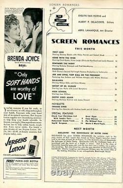 Screen Romances Magazine January 1940- PINOCCHIO- Disney