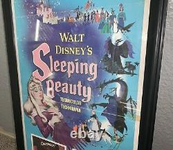 Sleeping Beauty 1959 Framed Insert 14x36 Movie Poster Walt Disney Authentic
