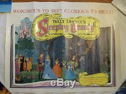 Sleeping Beauty 1959 Rare Disney Animation 22 X 28 Orig. Movie Poster