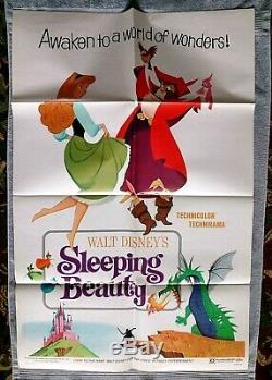 Sleeping Beauty Original movie poster DISNEY Animated STYLE B Mary Costa R-1970