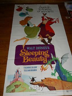 Sleeping Beauty (R1970) original Disney 3 sheet movie poster (77x39) #R70/124