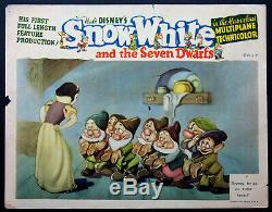 Snow White And The Seven Dwarfs Disney Animation 1937 Lobby Card