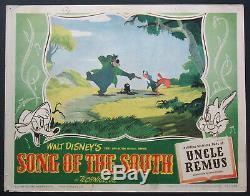 Song Of The South Disney Animation Brer Fox Bear & Tar Baby 1946 Lobby Card #3