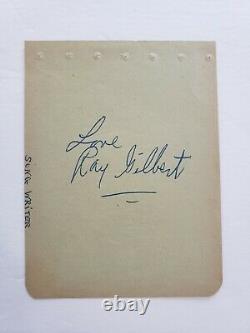 Song Of The South Walt Disney Movie 1956 Lobby Card Ray Gilbert Autograph COA
