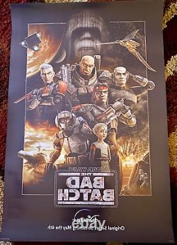 Star Wars The Bad Batch Original 27x40 D/S Movie Poster Disney Plus Matt Lanter
