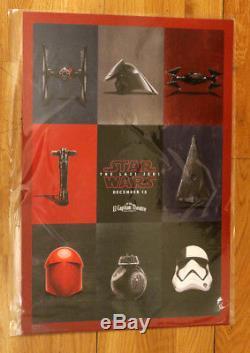 Star Wars The Last Jedi El Capitan Movie Marathon Premiere Poster LE 1500 Disney