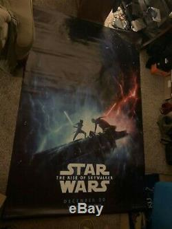 Star wars rise of skywalker and Spies in Disguise Disney Movie theater vinyl