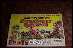 Swiss Family Robinson 1960 Half Sheet 22x28 Movie Poster Disney