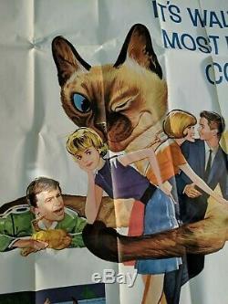 THAT DARN CAT Walt Disney 83 x 83 Giant Original Movie Poster 1965 in 4 sheets